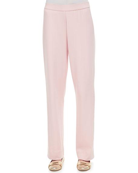 Joan Vass Petite Cotton Interlock Pants