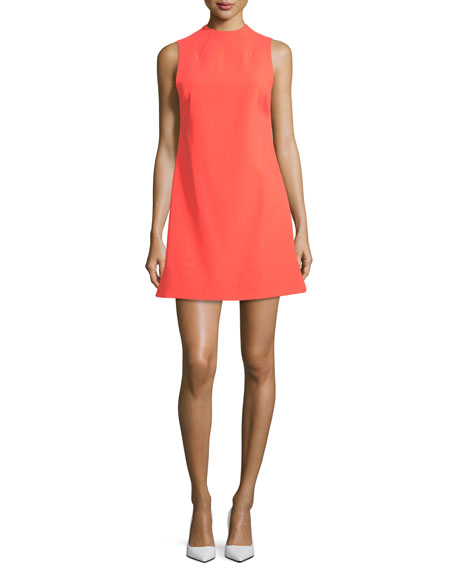 Alice And Olivia  COLEY MOCK-NECK SLEEVELESS A-LINE DRESS