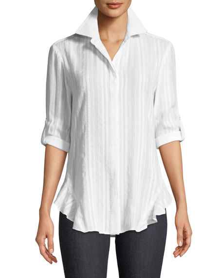Finley Agetha Striped Voile Blouse