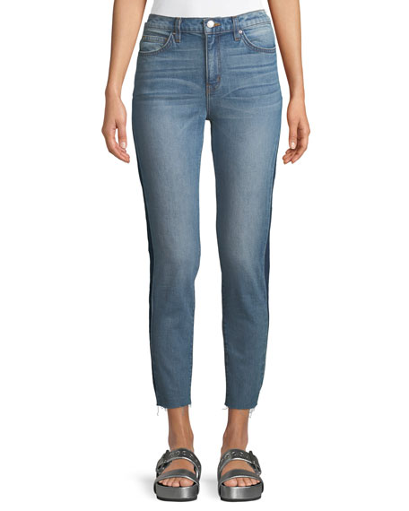 Iro Carnac Side-Panel Crop Skinny Jeans and Matching
