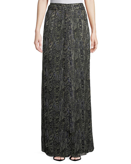 Iro Gixie Printed Wide-Leg Pants