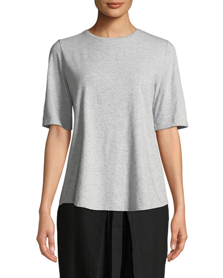 Eileen Fisher Slubby Organic Cotton Tee Shirt