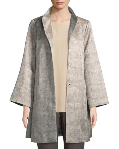 Disguise Jacquard Funnel-Neck Jacket