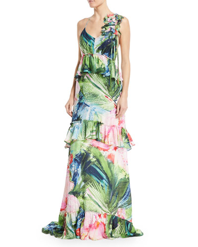 Sleeveless Tiered Peplum Maxi Dress