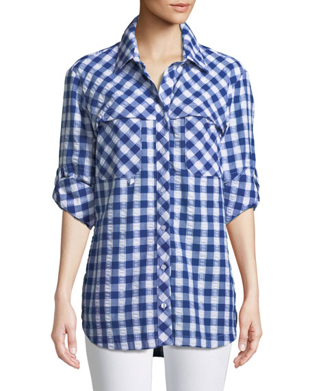 Finley Check Cotton Fishing Shirt