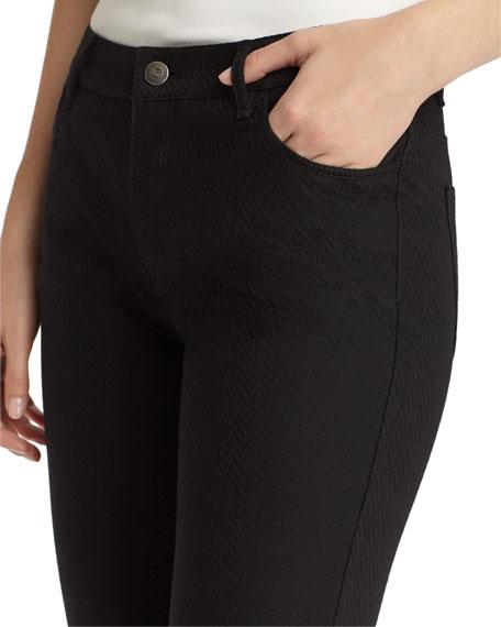 Thompson Dynamic Herringbone Jacquard Slim-Leg Jeans