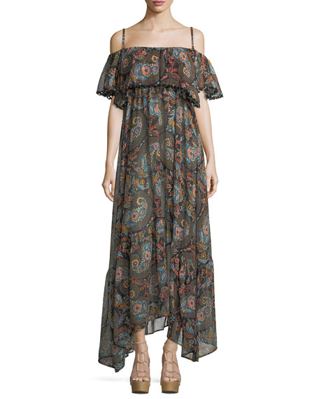 Anjuna Celestina Off-the-Shoulder Printed Maxi Dress