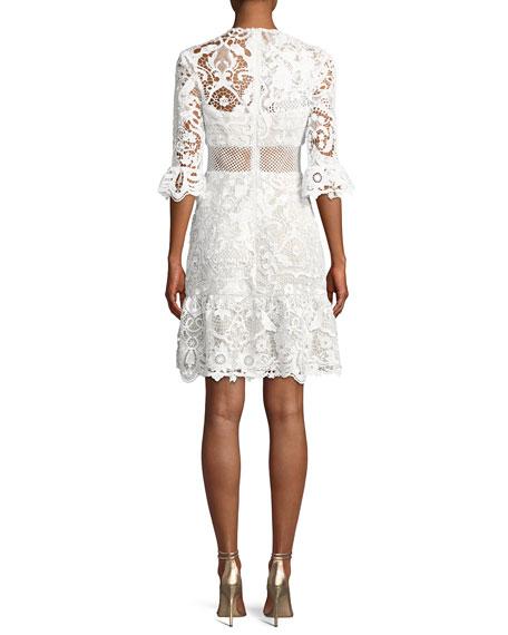 Lucia Ruffled Lace Mini Dress