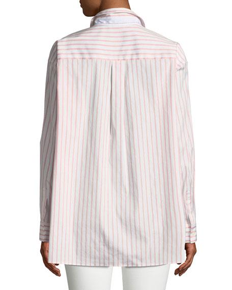 Jessie Striped Button-Front Blouse