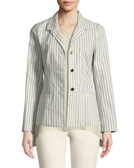 Lafayette 148 New York Jasmine Allegiant Stripe Jacket