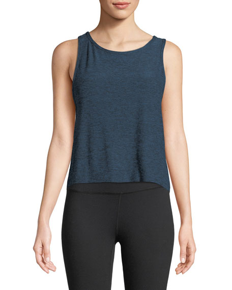 Weekend Traveler Sleeveless Cropped Tank Top