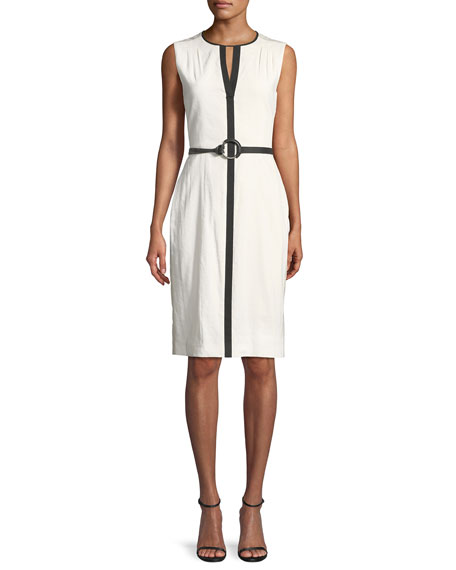 Volumnia Belted Sleeveless Dress