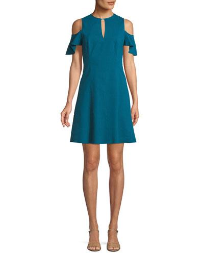 Raylan Cold-Shoulder Mini Dress