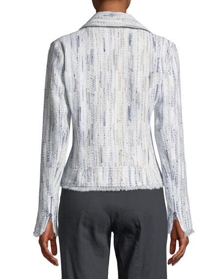 Mae Fringed-Trim Tweed Jacket