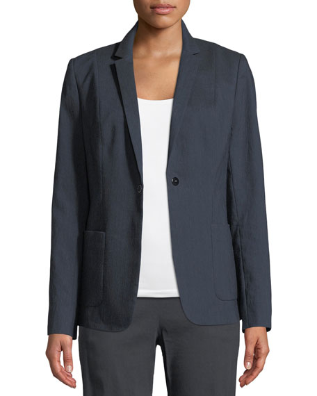 Wendy Patch-Pocket Jacket w/ Embroidered Back