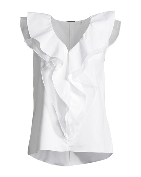 Zavanna Ruffled Sleeveless Blouse