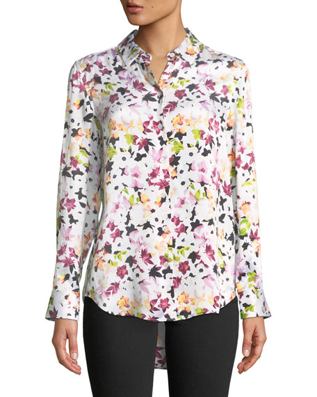 Equipment Essential Button-Down Tiny Floral-Print Shirt