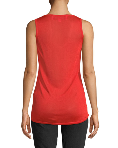 Sleeveless Ruched Tank Top