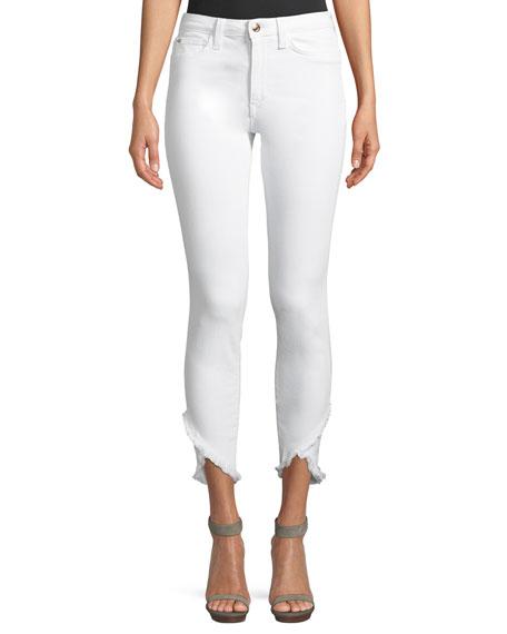 Flawless - Charlie High Waist Tulip Hem Ankle Skinny Jeans, White