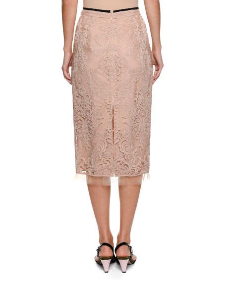 No. 21 Lace Pencil Skirt