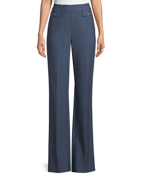 Summer Bella Double Weave Flare-Leg Pants