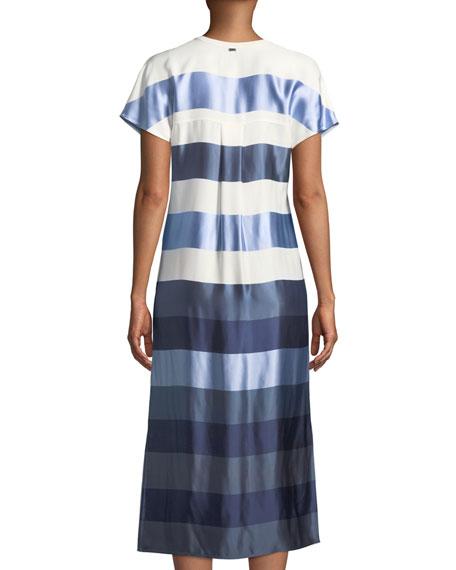 Block-Stripe Twill Dress