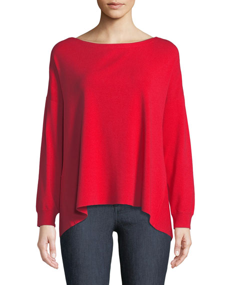 Olivia Drop-Shoulder Tie-Back Sweater