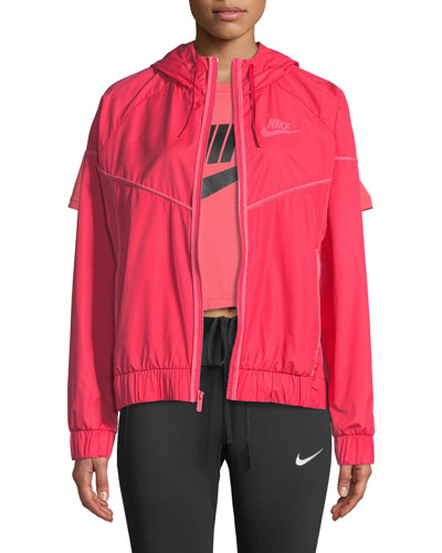 Windrunner Hooded Zip-Front Track Jacket