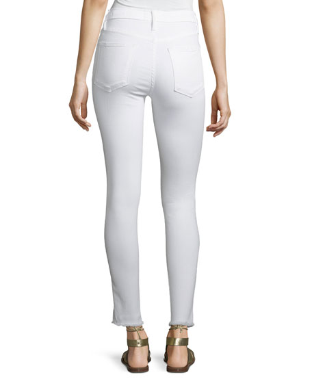 Le High Skinny Jeans with Raw Front Slit