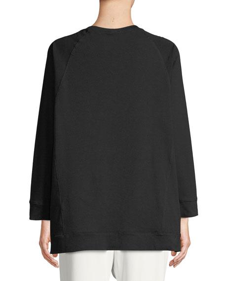 Slubby Organ Cotton Jersey Box Top, Plus Size