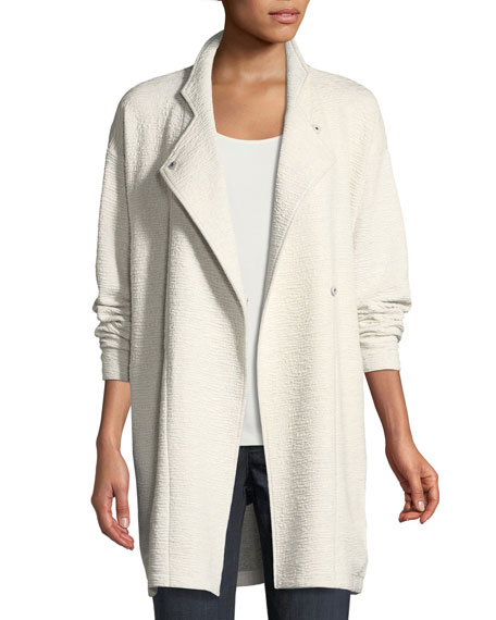 Eileen Fisher Double-Knit Jacquard Kimono Jacket