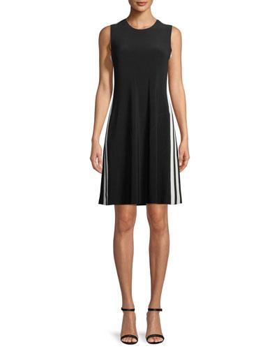 Side-Stripe Sleeveless Mini Dress