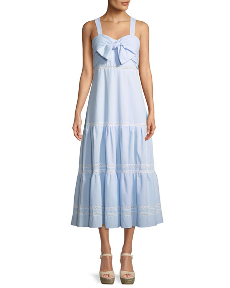Jonathan Simkhai Seersucker Maxi Coverup Dress