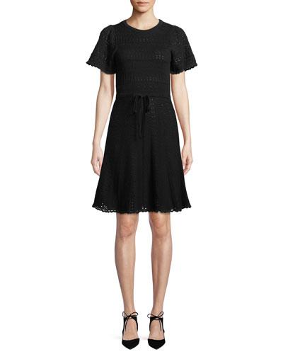 short-sleeve cotton sweater dress