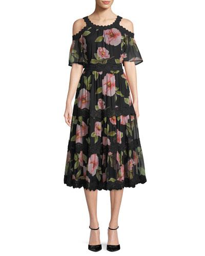 vintage bloom shane dress w/ cold shoulder