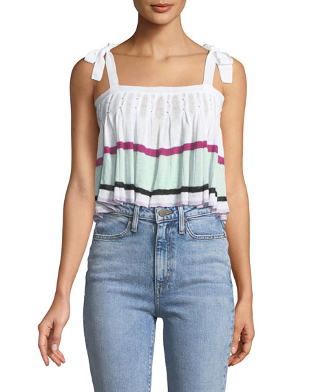 Amma Pleated Knit Crop Top