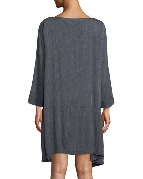 Gili Chambray Two-Pocket Tunic Dress