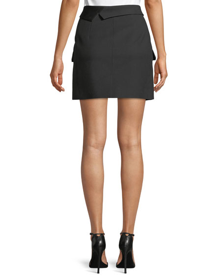Button-Front Blazer Mini Skirt