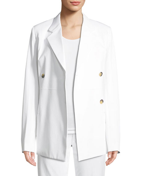 Image 3 of 3: Helmut Lang Double-Breasted Cotton Blazer