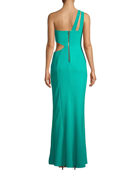 Cameron One-Shoulder Dress w/ Cutout