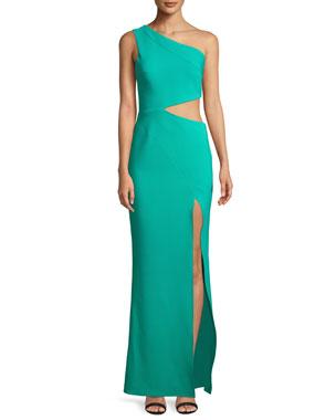 94cba2ca9c3 Maria Bianca Nero Cameron One-Shoulder Dress w/ Cutout