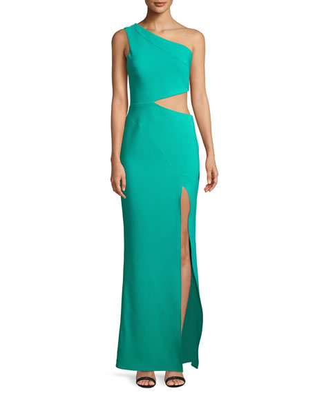 Maria Bianca Nero Cameron One-Shoulder Dress w/ Cutout