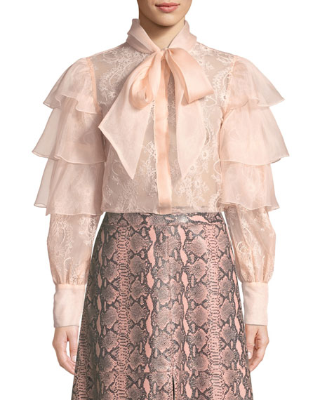 Talulah Ruffled Tier Lace Blouse