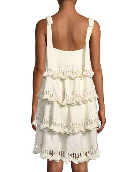 Palma Tiered Tassel Mini Dress