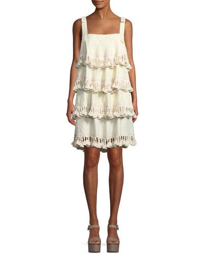 Palma Tiered Tassel Silk Dress