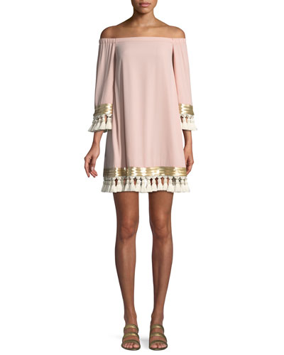 Cha Cha Tassel A-Line Mini Cocktail Dress