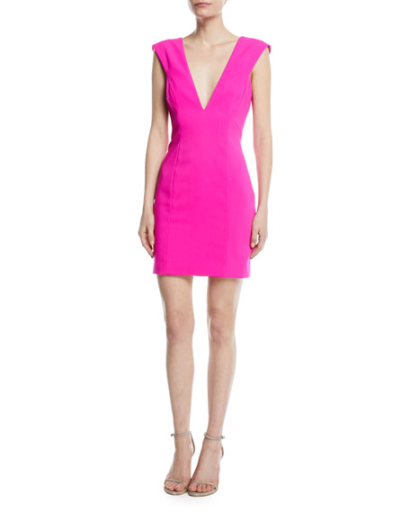 Cutout V Neck Mini Cocktail Dress by Jay Godfrey
