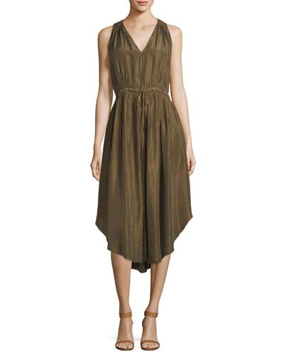 Habutai Silk Self-Tie Empire Dress