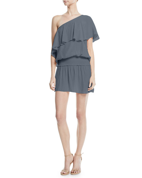 Emilia One Shoulder Short Dress by Ramy Brook