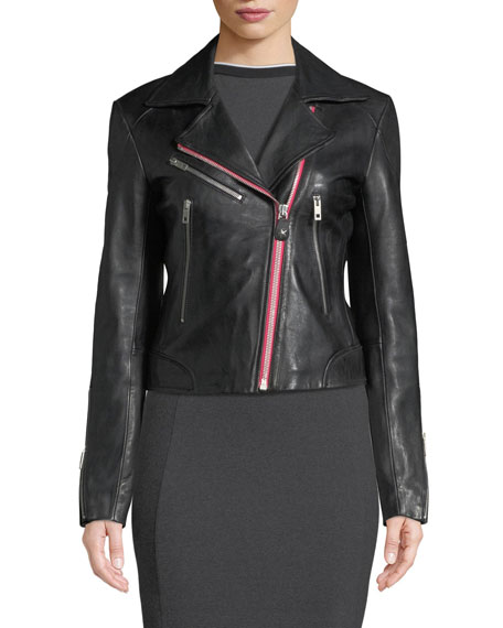 Griffin Zip-Front Leather Jacket